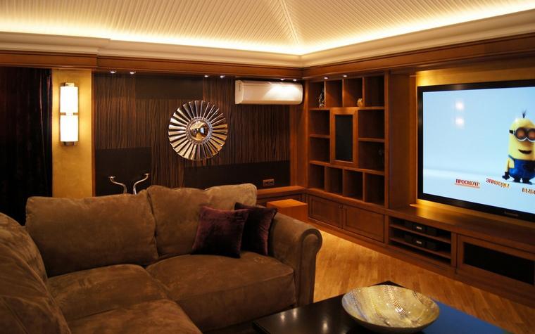 Загородный дом. домашний кинотеатр из проекта , фото №68534