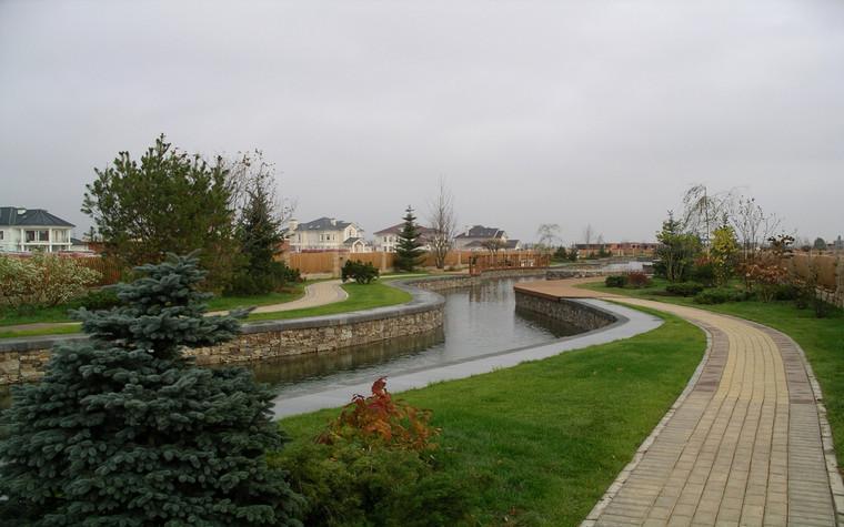 Загородный дом. водоем из проекта , фото №69973