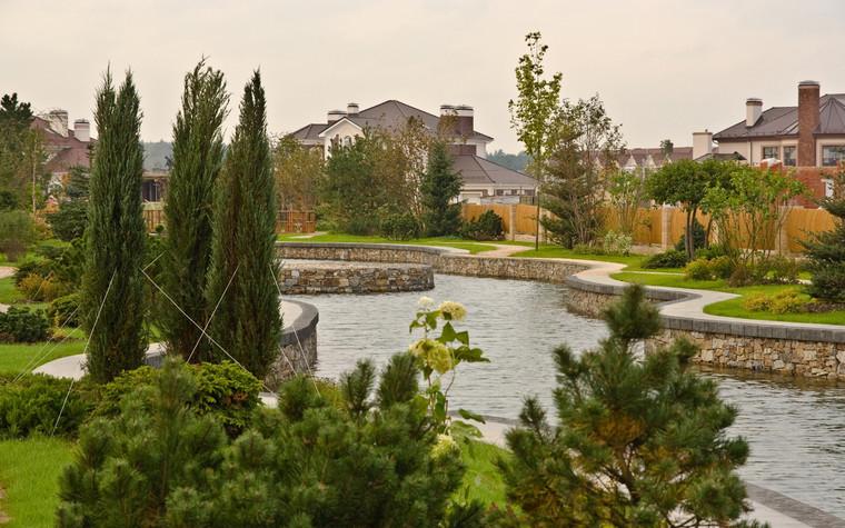 Загородный дом. водоем из проекта , фото №69975