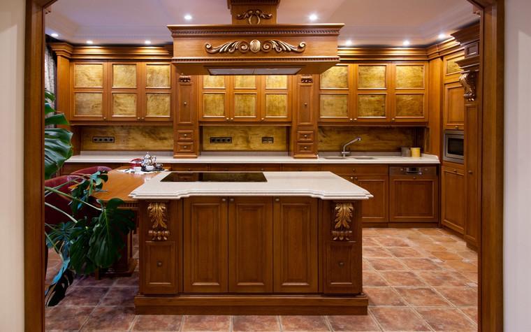 Фото № 70052 кухня  Загородный дом