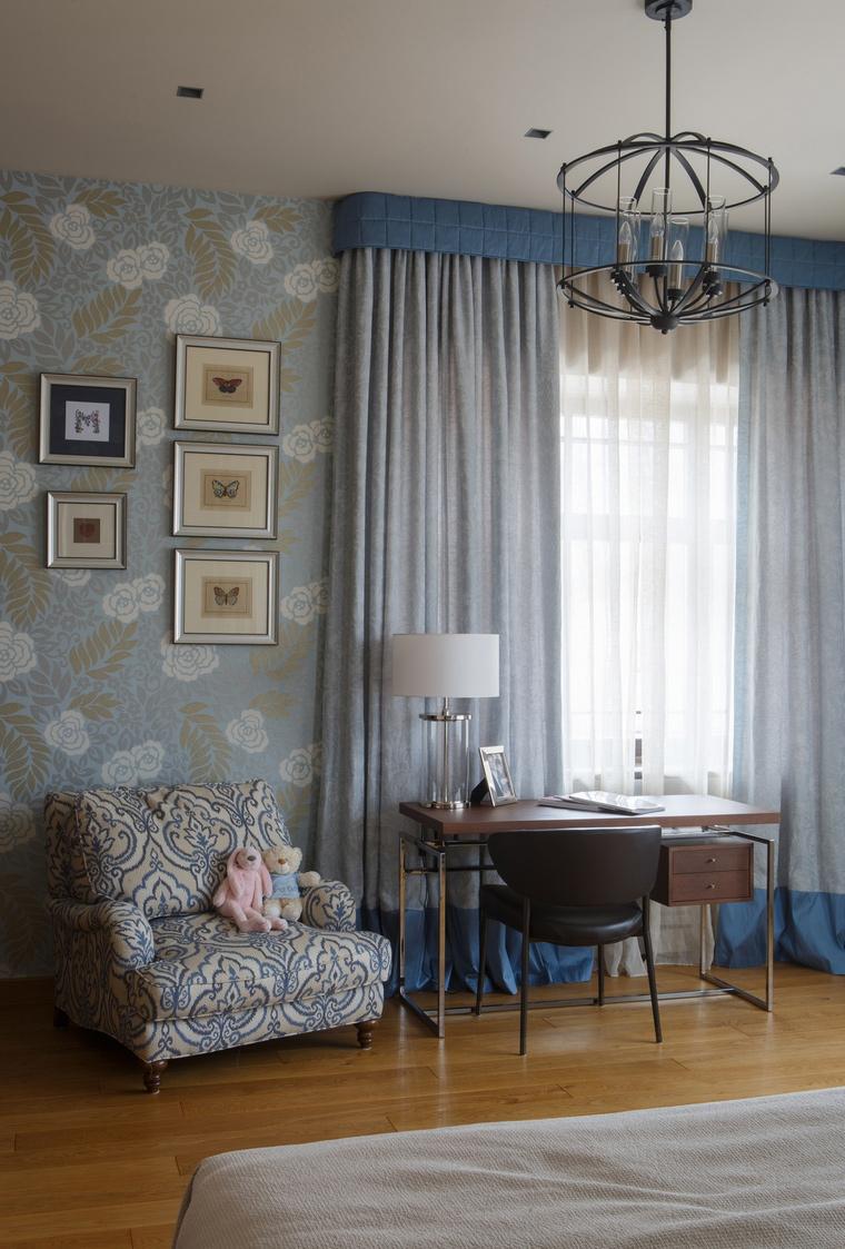 Фото № 70467 спальня  Загородный дом