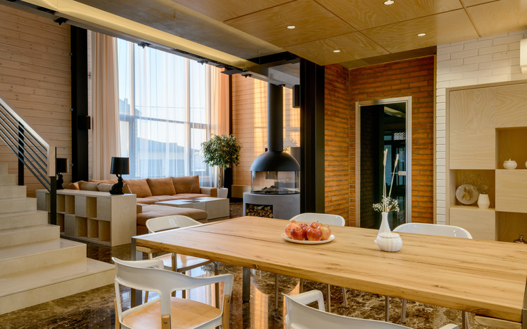 Загородный дом. столовая из проекта Дом на Планете, фото №75332