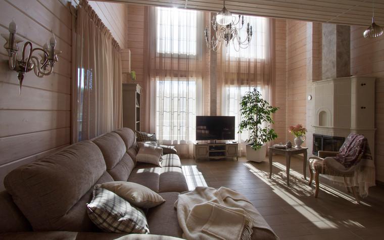 Загородный дом. гостиная из проекта Домик в Райволо, фото №75345
