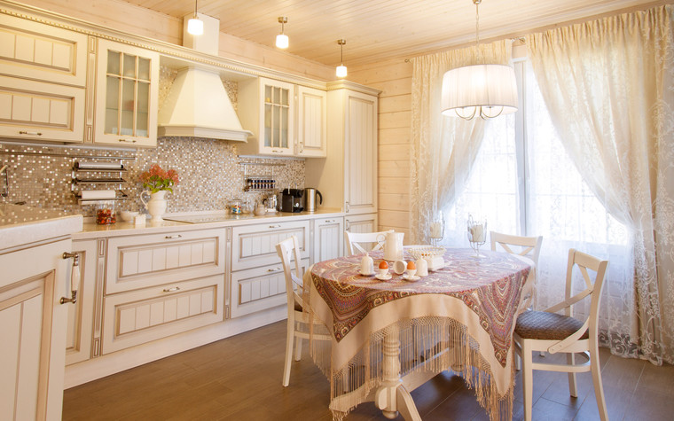 Загородный дом. кухня из проекта Домик в Райволо, фото №75348