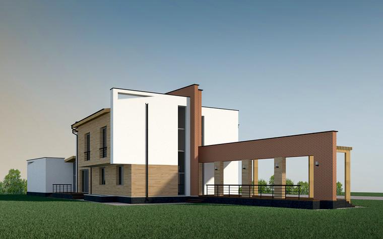 Загородный дом. фасад из проекта Дом в Кудряшовском посёлке, фото №77524