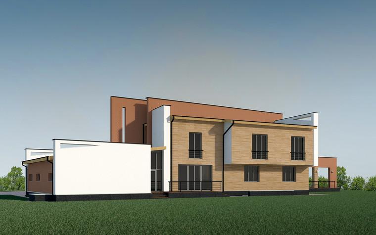 Загородный дом. фасад из проекта Дом в Кудряшовском посёлке, фото №77522