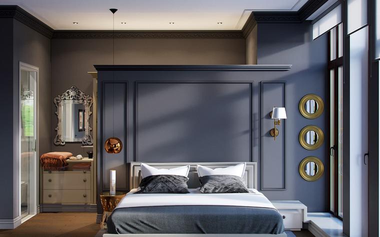 Загородный дом. спальня из проекта Скандинавский Декаданс, фото №78314