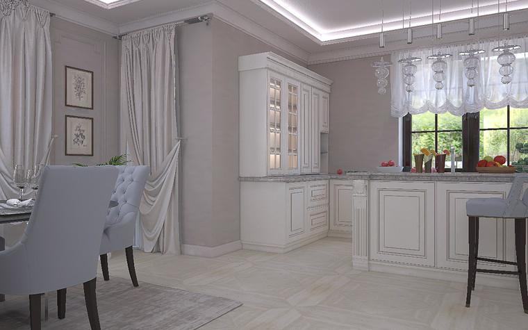 Загородный дом. кухня из проекта Дизайн проект дома площадь 500 кв.м в Ленинградской области., фото №78572