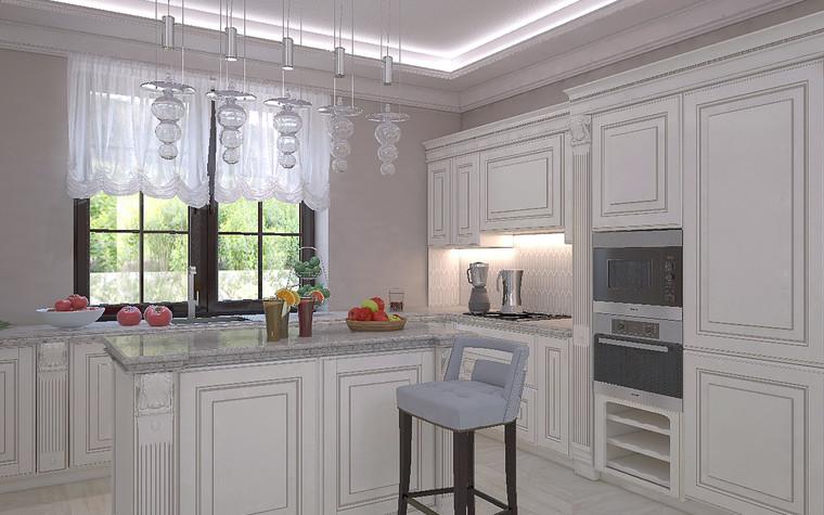 Загородный дом. кухня из проекта Дизайн проект дома площадь 500 кв.м в Ленинградской области., фото №78574