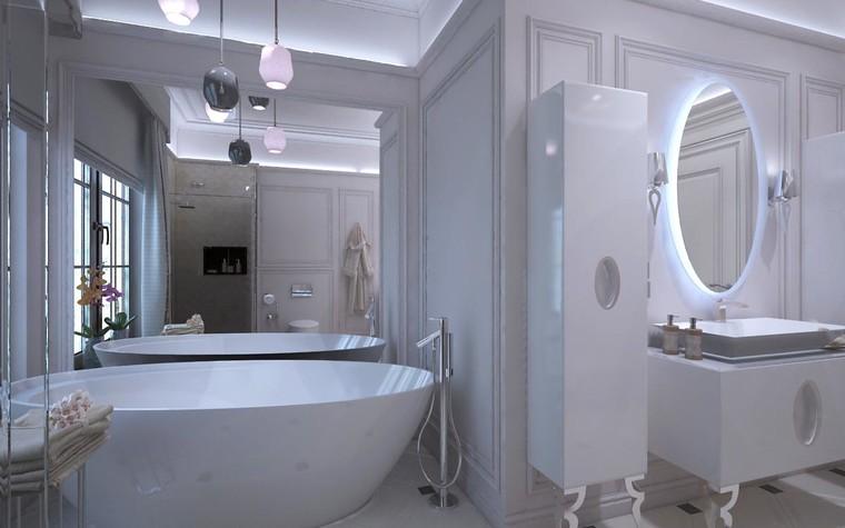 Загородный дом. ванная из проекта Дизайн проект дома площадь 500 кв.м в Ленинградской области., фото №78579