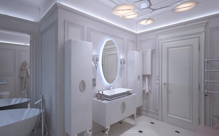 Загородный дом. ванная из проекта Дизайн проект дома площадь 500 кв.м в Ленинградской области., фото №78580