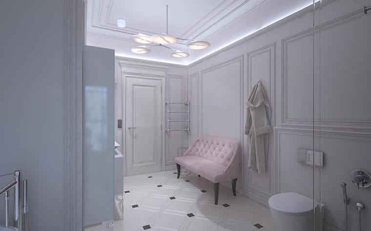 Загородный дом. ванная из проекта Дизайн проект дома площадь 500 кв.м в Ленинградской области., фото №78581