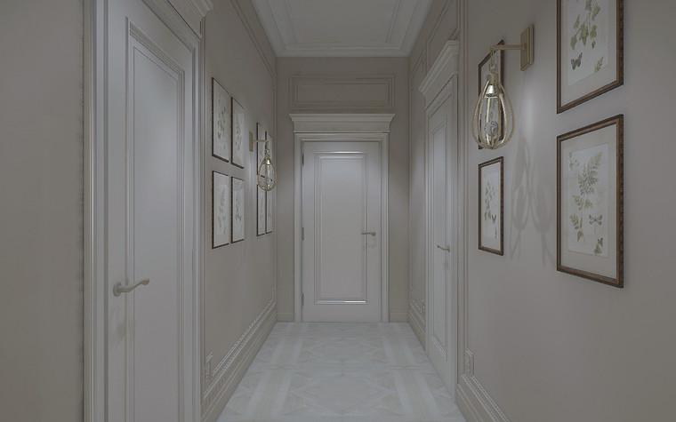 Загородный дом. коридор из проекта Дизайн проект дома площадь 500 кв.м в Ленинградской области., фото №78566