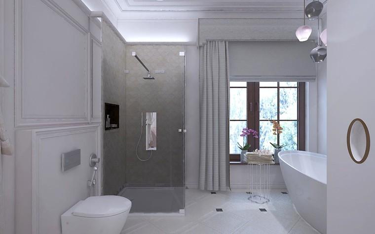 Загородный дом. ванная из проекта Дизайн проект дома площадь 500 кв.м в Ленинградской области., фото №78582