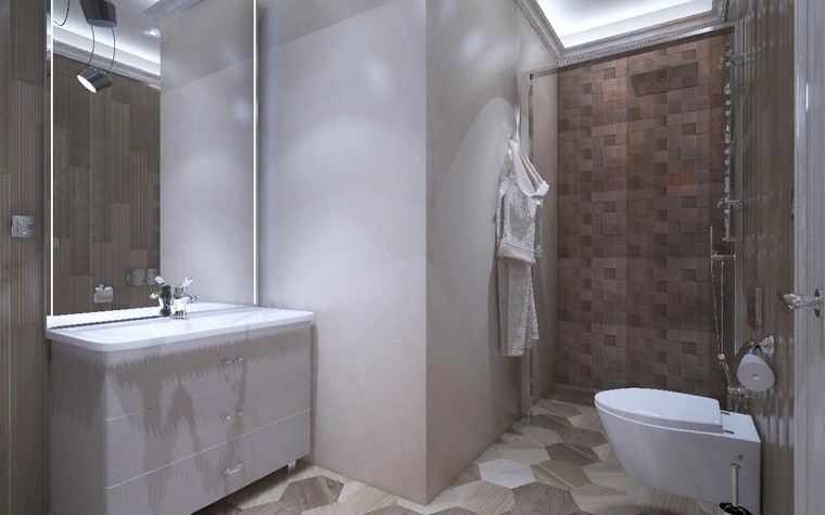 Загородный дом. санузел из проекта Дизайн проект дома площадь 500 кв.м в Ленинградской области., фото №78585