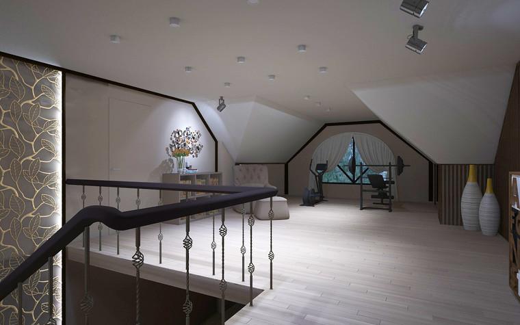 Загородный дом. холл из проекта Дизайн проект дома площадь 500 кв.м в Ленинградской области., фото №78586