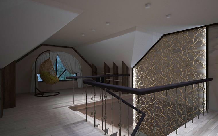Загородный дом. холл из проекта Дизайн проект дома площадь 500 кв.м в Ленинградской области., фото №78587