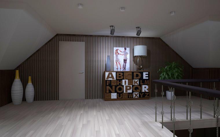 Загородный дом. холл из проекта Дизайн проект дома площадь 500 кв.м в Ленинградской области., фото №78588