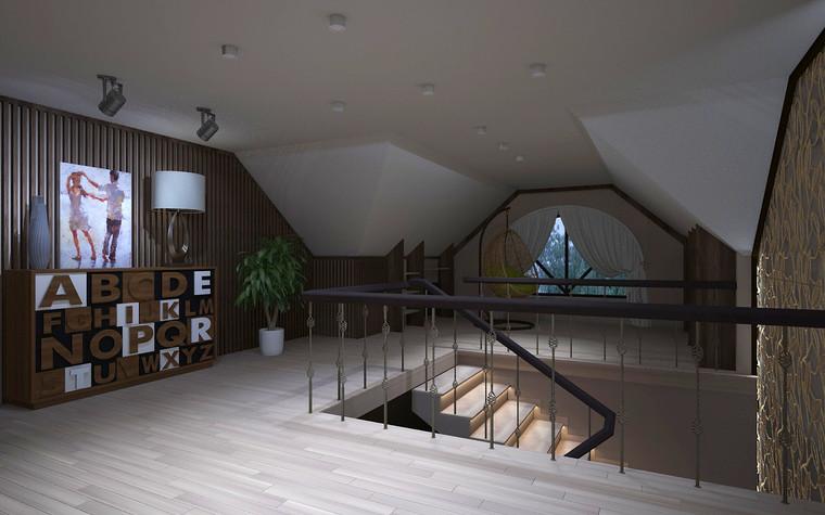 Загородный дом. холл из проекта Дизайн проект дома площадь 500 кв.м в Ленинградской области., фото №78589