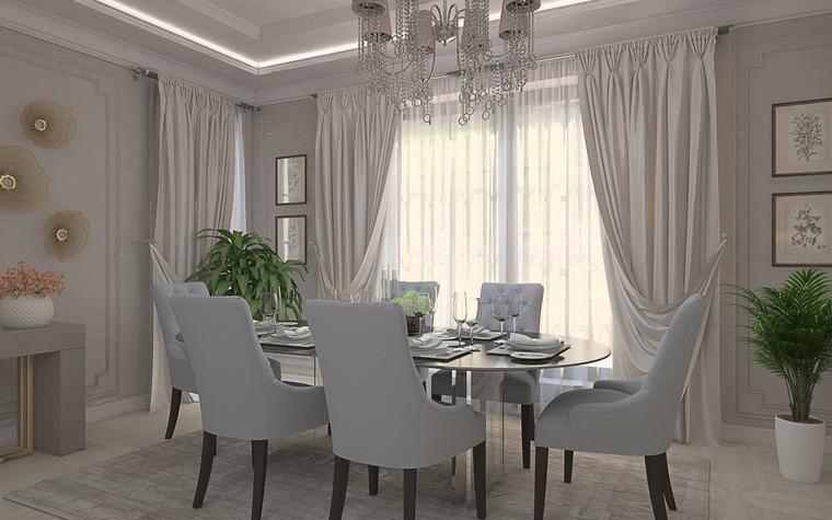 Загородный дом. столовая из проекта Дизайн проект дома площадь 500 кв.м в Ленинградской области., фото №78570