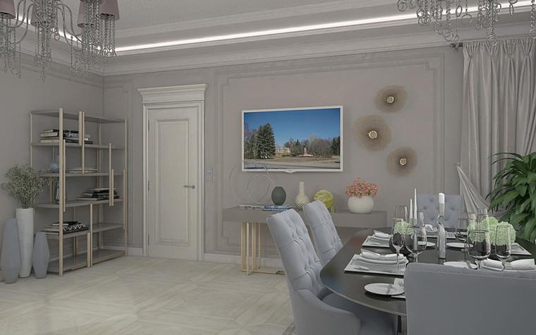 Загородный дом. столовая из проекта Дизайн проект дома площадь 500 кв.м в Ленинградской области., фото №78571