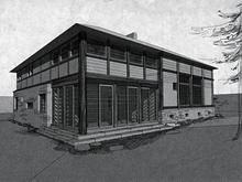 Загородный дом «», фасад . Фото № 624, автор Обледенение Архитекторов