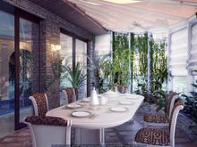 Загородный дом «Бассейн с зимним садом», зимний сад . Фото № 25323, автор Кирилюк  Константин