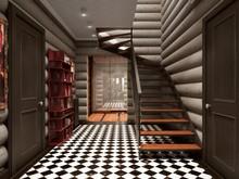 Загородный дом «ИЗБА», коридор . Фото № 26124, автор Алёны Чекалиной Дизайн студия