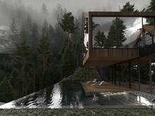 Загородный дом «Forest house», бассейн  . Фото № 26235, автор U-Style