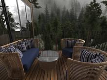 Загородный дом «Forest house», терраса  . Фото № 26234, автор U-Style