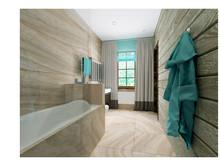 Загородный дом «Современный дом из бруса», ванная . Фото № 26486, автор Романовская Виталия