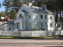 Загородный дом «Коттедж. посёлок Сосны», фасад . Фото № 26726, автор Шипунова Антонина
