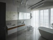 Загородный дом «Grey-house», ванная . Фото № 26836, автор SNOU project Архитектурное бюро