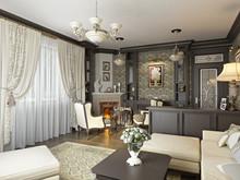 Загородный дом «Дизайн загородного дома в п. Мешково Ностальгия», гостиная . Фото № 27011, автор Соболев Павел