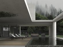 Загородный дом «Gray & Green», бассейн  . Фото № 27026, автор U-Style