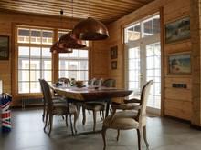 Загородный дом «Дом из бруса на берегу Финского залива», столовая . Фото № 27149, автор Солнцев Сергей