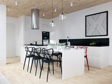 Загородный дом «Двухэтажный жилой дом 307м2, Ижевск», кухня . Фото № 27279, автор Уразметов Рустэм