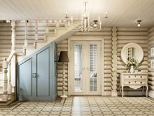 Загородный дом «Дом в Новоглаголево», холл . Фото № 27307, автор Жданов Евгений