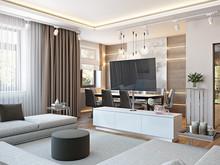 Софт минимализм в загородном доме, фото № 7494, Duplex Apartment
