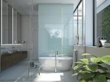 Загородный дом «Дом в Репино», ванная . Фото № 27362, автор background архитектурная студия