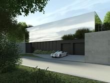 Загородный дом «Дом в Репино», гараж . Фото № 27365, автор background архитектурная студия