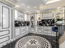 Загородный дом «Дизайн интерьера виллы в Монако», кухня . Фото № 27564, автор NG-Studio