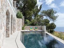 Загородный дом «Дизайн интерьера виллы в Монако», бассейн  . Фото № 27569, автор NG-Studio