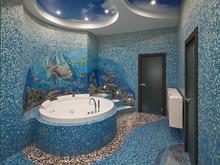 Загородный дом «Персональное решение», ванная . Фото № 27678