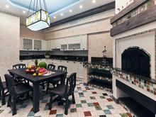 Загородный дом «Персональное решение», кухня . Фото № 27677, автор Андреев Андрей