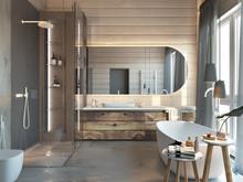 Загородный дом «Загродный дом Ласковый Май», ванная . Фото № 27747, автор Suiten n. Seven
