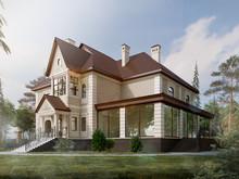 Загородный дом «Дом в Пушкино», фасад . Фото № 27814, автор Макарова Алёна