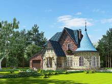 Загородный дом «Дом 200 кв.м.», фасад . Фото № 27899, автор Садовникова Наталья