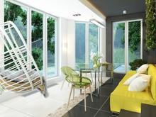 Загородный дом «Дизайн частного дома для супружеской пары», терраса  . Фото № 27944, автор Сытник Евгения