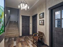 Загородный дом «Дом в коттеджном поселке», прихожая . Фото № 27990, автор Андреевы Андрей и Екатерина